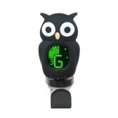 Niedlichen Cartoon Owl Clip-On Tuner LCD Display für Gitarre chromatische Bass Ukulele Violine