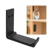 Foldable Universal Headset Headphone Hanger Hook Holder Under Desk Mount Stand Aluminum Alloy for Home Studio Office