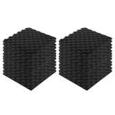 24pcs Recording Soundproof Foam Video Room Sound Noise Insulation Sponge Wall Deadening