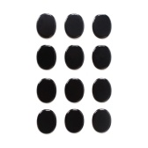12Pcs Drum Mute Pads Set Silica Gel Dampeners Silencer Damping Pad Percussion Instrument Accessories