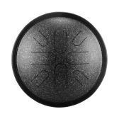 10 Inches Portable Steel Tongue Drum 8 Notes Handpan Drum Travel Drum Percussion Instrument
