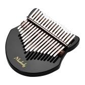 Muslady Cute Fox-shaped 17-Key Kalimba Thumb Piano Acrylic Material