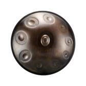 22インチハンドパンハンドパンドラムDキー9ノート(D3 A3 bB3 D4 F4 A4 G4 E4 C4)窒化鋼打楽器
