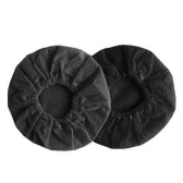 100Pcs Eco-friendly Microphone Covers Windscreen Dustproof Protection Mike Cover (Black)