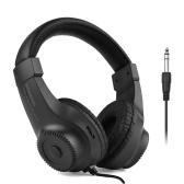 Kabelgebundener Stereo-Monitor-Kopfhörer Over-Ear-Headset mit 50-mm-Treiber 6,5-mm-Stecker