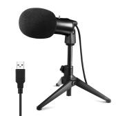 Проводной USB-микрофон Muslady для ноутбука с конденсаторным микрофоном