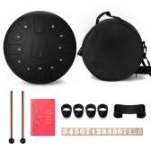 10-дюймовые 8-тонные стальные языковые барабаны Ручные барабаны с барабанными палочками Ударные музыкальные инструменты