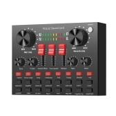 PULUZ carte son de diffusion en direct BT connecté K-araoke chanteur enregistrement son mixeur pour Mobile P-hone / C-omputer / ordinateur portable / T-ablet PC