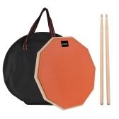 Pad per batteria da 12 pollici Pad muto per batteria con borsa da trasporto per bacchette per studenti principianti