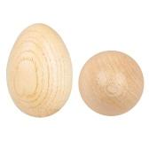 Uova di strumenti musicali a percussione maracas in legno shaker 2 pezzi