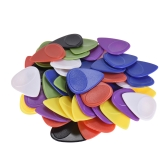 50pcs Guitar Picks Celluloid Picks Color Mixed with Storage Box for Acoustic Folk Classic Electric Guitars Bass 0.46mm / 0.55mm / 0.6mm / 0.7mm / 0.75mm Each Thickness 10pcs