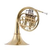 Ammoon Bb Flat French Horn 4 klawisze Single-Row Tube Brass Gold Laquer Instrument dęty dla początkujących Amatorów