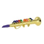 Sassofono dritto giocattolo con strumento musicale con 8 tasti colorati per bambini