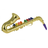 Saxophone Sax Toy Musical Instrument Gift with 8 Colored Keys for Kids Children