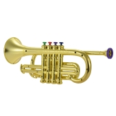 Toy Trumpet with 4 Colored Keys Musical Instrument Gift for Kids Children