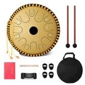 Tambour à main en acier au carbone 14 pouces 14 tons avec baguettes Instruments de musique à percussion