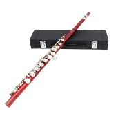 Western Concert Flet Cupronickel Plated Silver 16 Otwory C Klucz Woodwind Instrument