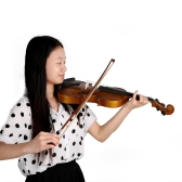 4/4 Full Size Violin Fiddle Basswood Steel String Stringed Musical Instrument for Kids Beginners Circle Style Bow