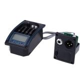 Andoer® EQLC-4 4 Band EQ EntzerrerSystem Akustikgitarre Vorverstärker Piezo TonabnehmerLCD Bildschirm Stimmgerät