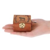 Retro Drewniany Box Musical Box Crank Music Box Wyśmienite wykonanie 4 wzory dla opcji