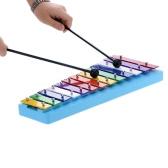 Andoer® 13 Bar Kid Glockenspiel Xylophone Colorato di Formazione Percussione Ritmica Giocattolo per il Bambino