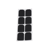 8pcs 0,8 mm nero Sassofono Soprano Sax clarinetto boccaglio Patches pastiglie cuscini