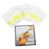 4pcs 絶妙な弦楽器 パーツ アクセサリー  バイオリン弦E-A-D-G鋼核 ニッケルシルバーセット