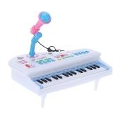 31 Klawisze Wielofunkcyjna Mini Symulacja Pianino Zabawka z odłączanym mikrofonem Klawiatura elektryczna Elektroniczny prezent dla niemowląt Dzieci Dziecięce