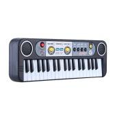 Juguete de la música de 37 teclas multifunción Mini teclado electrónico con micrófono Electone regalo para niños niños niños principiantes