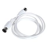 Guitar Cable 高品質  ギターケーブル ケーブル MIDI延長ケーブル オス→オス  5ピン 1.6M/5.25FT  ホワイト【並行輸入品】