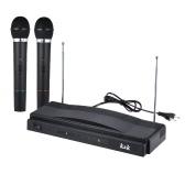 Studio senza fili microfono Mic remoto sistema Kit trasmettitore FM ricevitore con cavo Audio per KTV insegnamento Show