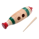 Drewniane Guiro Fish-Shaped Colorful Kid Children Musical Toy Percussion Instrument