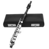 Piccolo Ottavino chiave a forma di flauto placcato in mezza misura