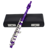 Piccolo Ottavino Half-size Flute Plated C Key Cupronickel with Cork Grease Cleaning Cloth Screwdriver Padded Box