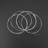 4pcs Ukulele String Black/White Nylon