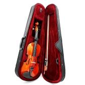 4/4 Skrzypce Skrzypce Basswood String String Arbor Bow Łańcuchowy Instrument dla Muzycy Kochankowie Początkujący