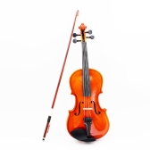 1/4バイオリンフィドルバスウッドスチール弦アーバー弓弦楽器楽器子供用初心者のためのおもちゃ