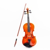 Second Hand 4/4 Violin Fiddle Basswood Steel String Arbor Bow Stringed Instrument for Music Lovers Beginners