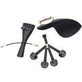 4/4 Violin Chin Rest Chinrest with Tuning Peg Tailpiece Fine Tuner Tailgut Endpin Violin Accessory Kit