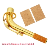 2pcs 2mm Sax Saxphone Tenor Neck Joint Corks Strips Sheets