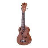 "21"" mini Ukelele Sapele Top Rosewood Fretboard strumento musicale a corde 4 stringhe"
