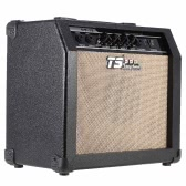 """GT-15 Professional 3-Band EQ 2 Channel Electric Guitar Amplifier Distortion Amp 15W with 5"""" Speaker"""