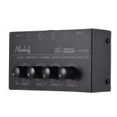 Muslady HA400 Amplificatore per cuffie stereo mini audio a 4 canali ultra compatto con adattatore di alimentazione