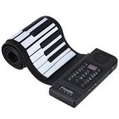 内蔵ラウドスピーカー付きポータブルシリコン61キーロールアップピアノ電子MIDIキーボード