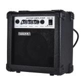 Ammoon Portable 10 watowy wzmacniacz gitarowy 5 cali Głośnik do akustycznej / elektrycznej gitary Ukulele Wysoka czułość Regulacja głośności Regulacja tonów wysokich / niskich