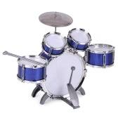 セカンドハンドの子供たちの子供のドラムセット楽器のおもちゃ少年のシンバルスツールのドラムドラム少年の少女のためのドラムスティック