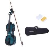 ammoon 4/4 Full Size tiglio violino Maple scorrimento Tastiera Pioli in lega di alluminio Cordiera con l