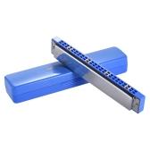 QIMEI QM24A-3 24 otwory Harmonijka tremolo Usta Klucz organowy C z pudełkiem dla początkujących Student Blue