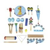 楽器玩具打楽器バンドリズムキット子供のための子供タンブリン木製ギロハンドベルマラカス小さなトランペットハーモニカ