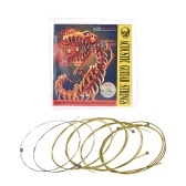 Alice A406 Series Acoustic Folk Guitar Strings Set Stainless Steel Wire Steel Core Coated Copper Alloy Wound, 6pcs/ Set, Light(.012-.053)
